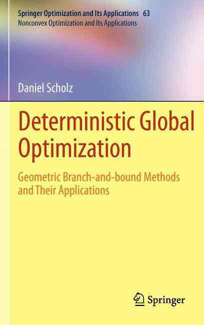 Deterministic Global Optimization By Scholz, Daniel